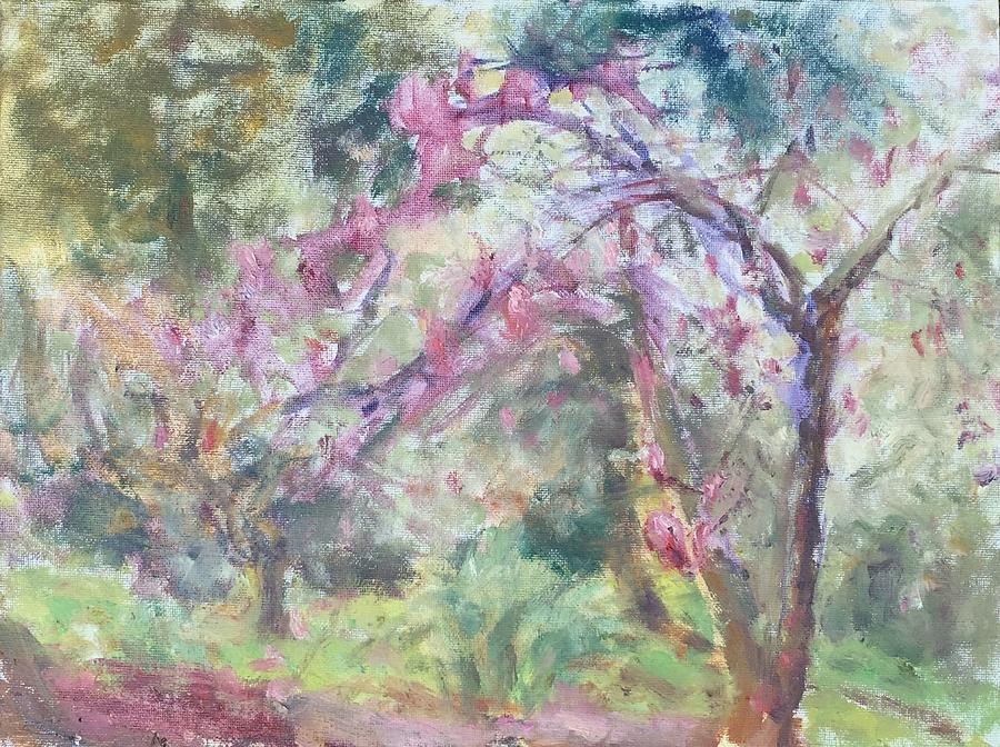 Spring on the Magnolia Trail - Original Impressionist Painting by Quin Sweetman