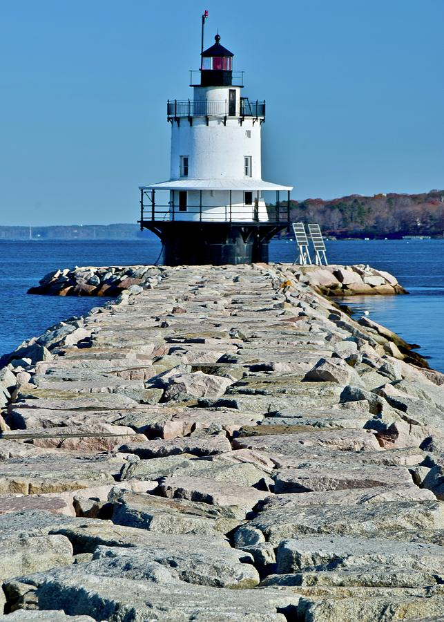 Spring Point Edge Lighthouse by Frozen in Time Fine Art Photography