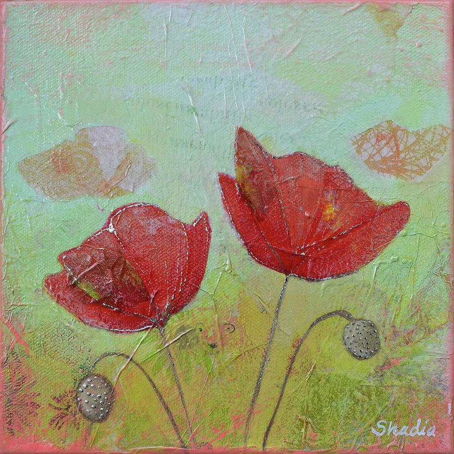 Spring Poppy II Painting