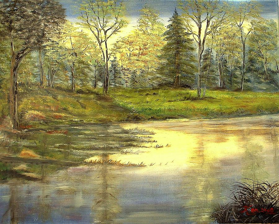 Spring Time Painting by Kenneth LePoidevin