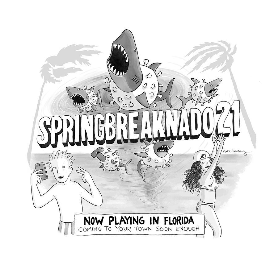 Springbreaknado21 Drawing by Kate Isenberg