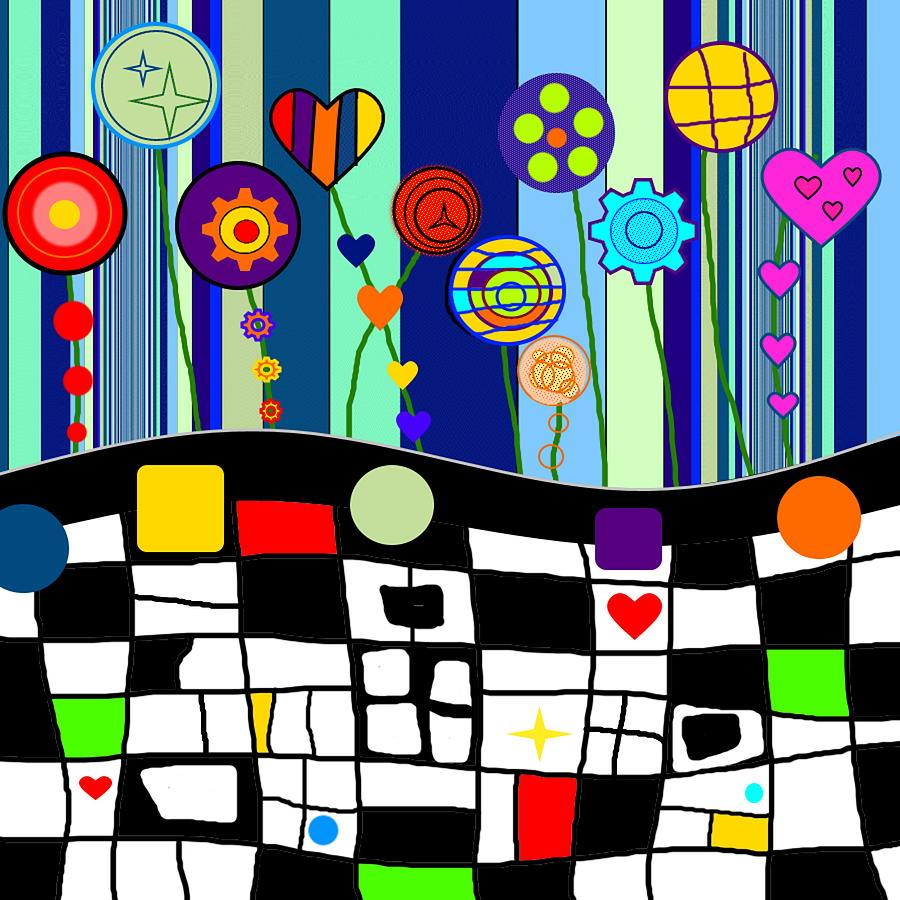 Flowers Digital Art - Springtime Follies by Lady Ls Designs
