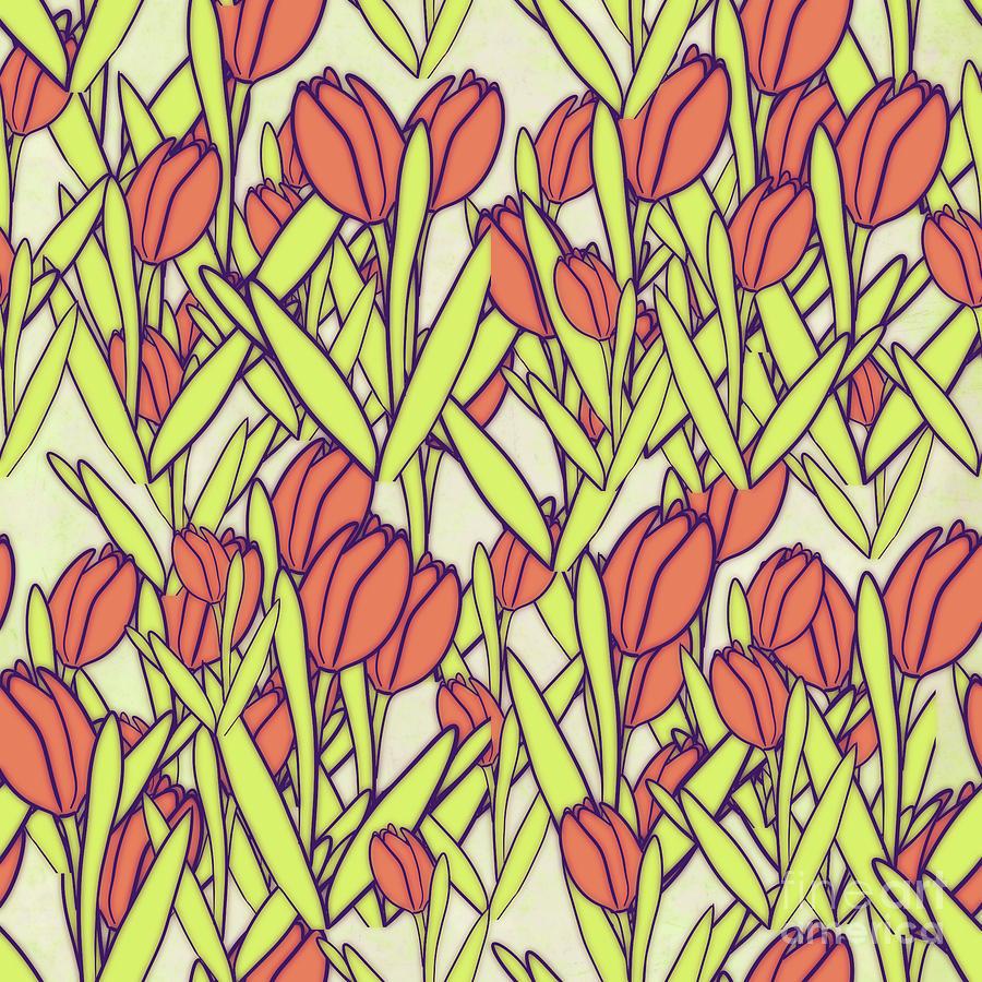Springtime Tulips Digital Art