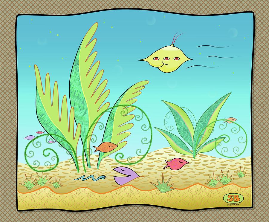 Fish Digital Art - Spyfish  by Susan Bird Artwork