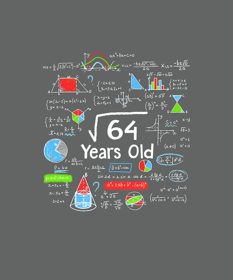Square Root Of 64 8 Years Old 8th Birthday Math Digital Art By Felix