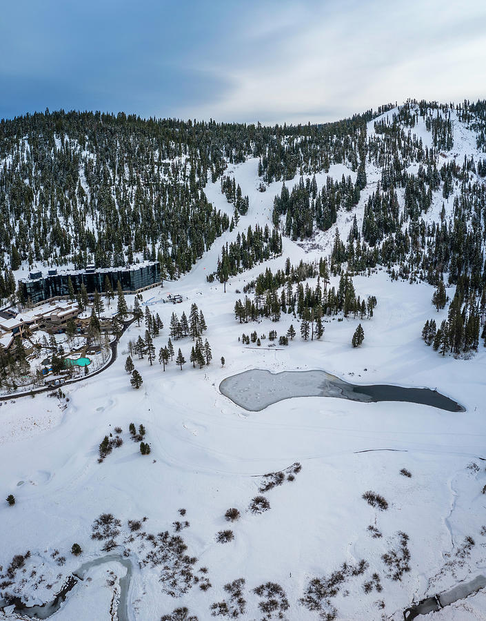 Squaw Valley Meadow Aerial Photograph