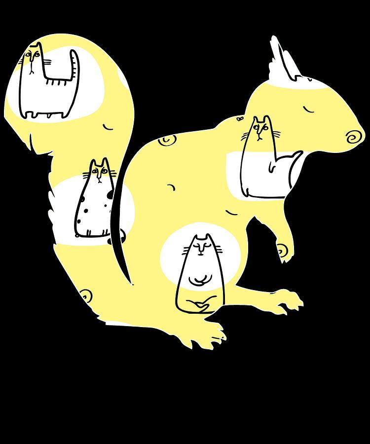 Animal Digital Art - Squirrel 168 by Kaylin Watchorn