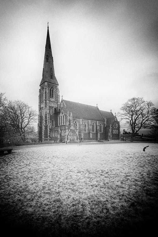 St. Albans Church Noir Photograph