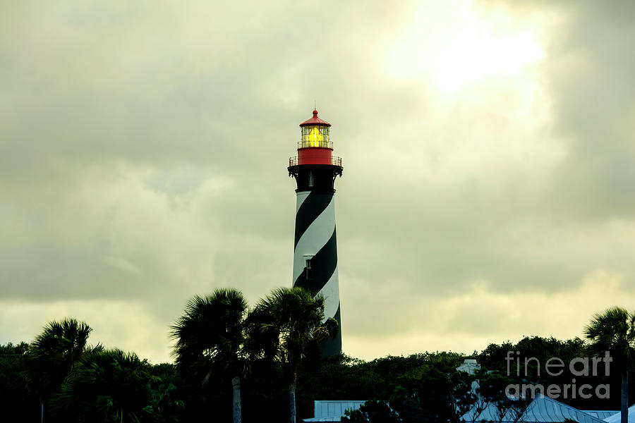 Florida Photograph - St. Augustine Lighthouse At Sunset, Florida by Felix Lai
