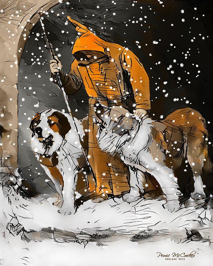 St. Bernards To The Rescue Digital Art