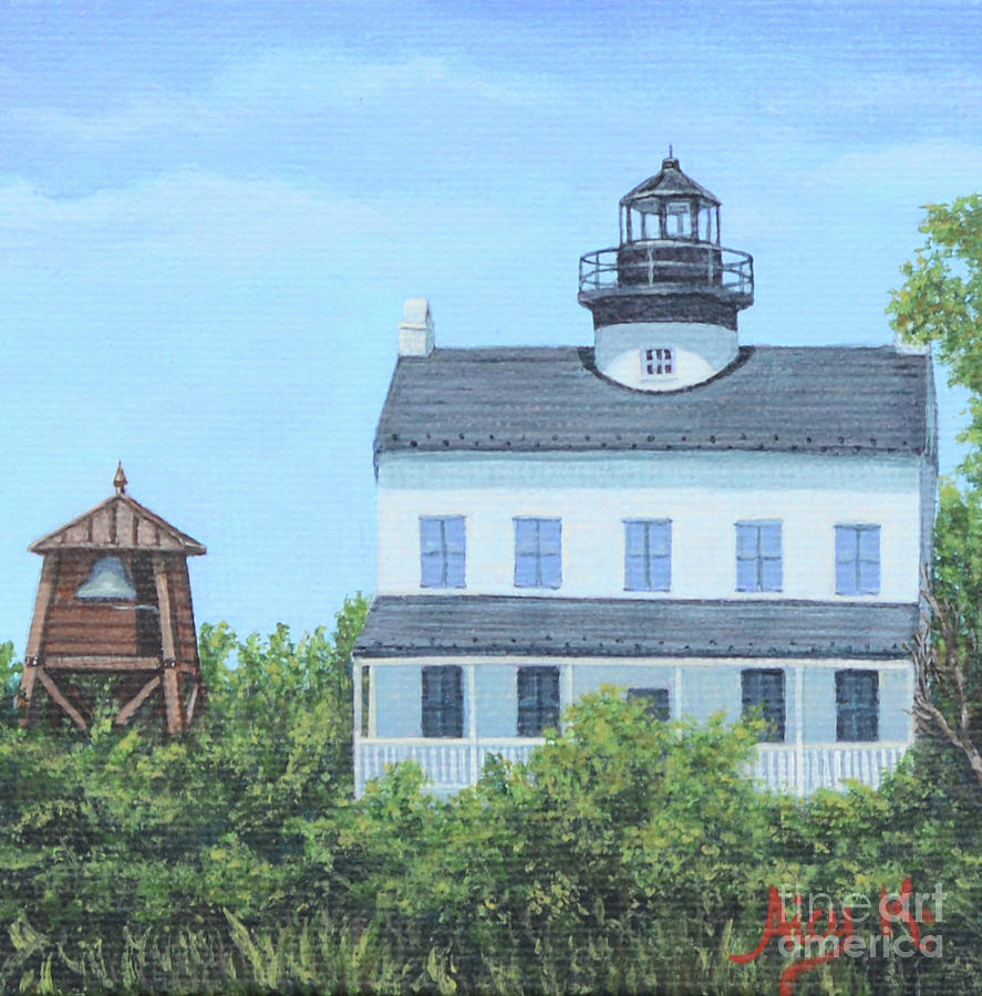 St Clements Lighthouse Mini Artwork by Aicy Karbstein