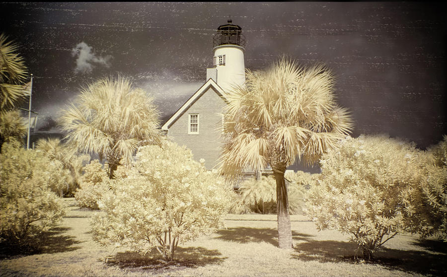Lighthouse Photograph - St George Island Lighthouse by Jim Cook