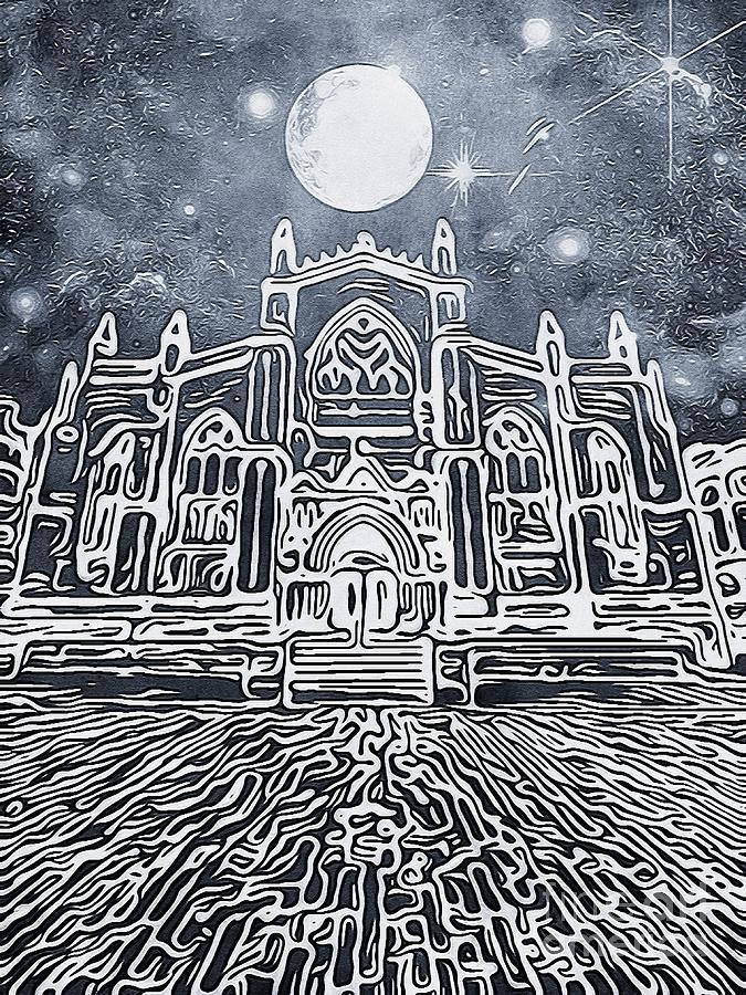 St Giles Cathedral Edinburgh Night Scene Digital Art