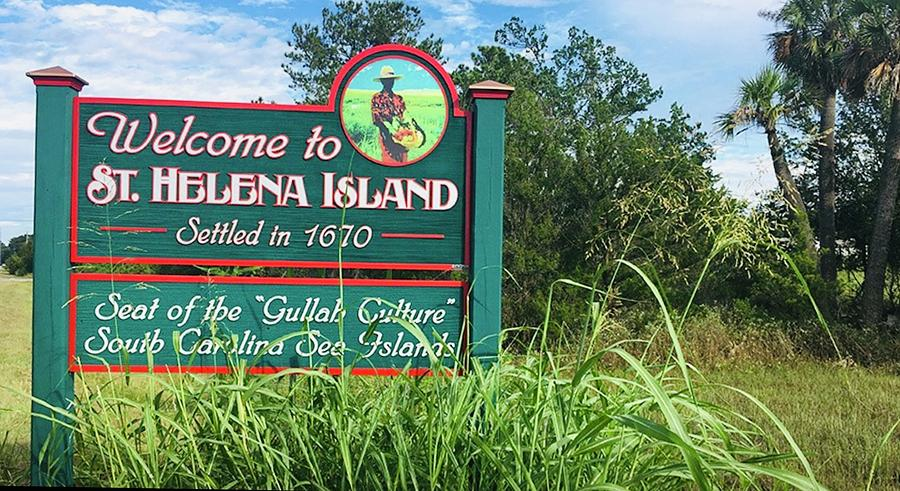St Helena Island Sign by Patricia Greer