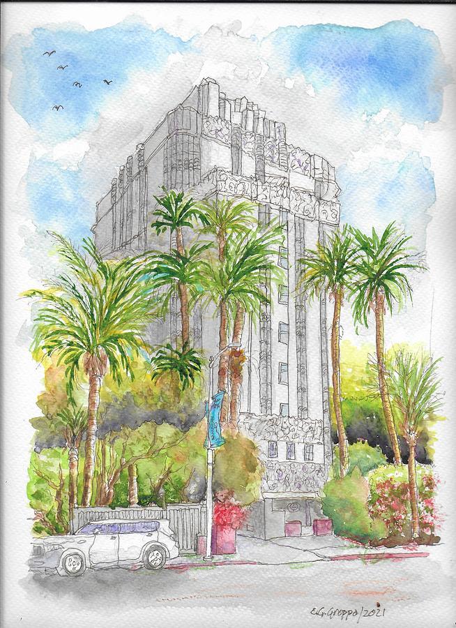 St. James Hotel - Ex Argyle Hotel, West Hollywood, California Painting