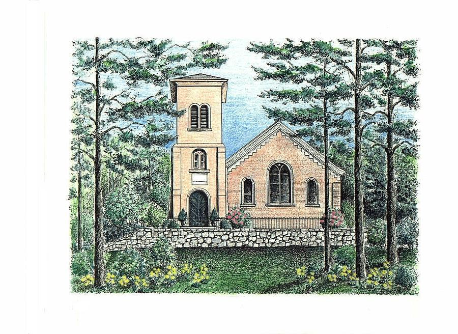 Church Drawing - St. John in the Wilderness Church by Lee Pantas