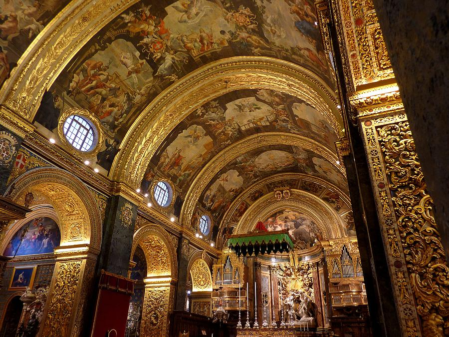 St. Johns Cathedral in Valletta Photograph by Frans Sellies
