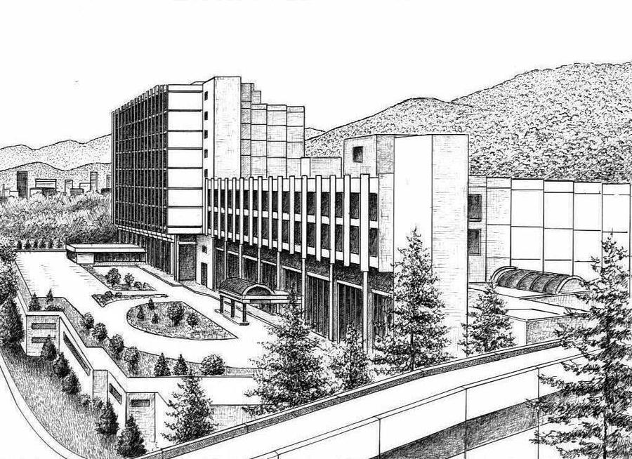 Asheville Drawing - St. Joseph Campus of Memorial Mission Hospital by Lee Pantas