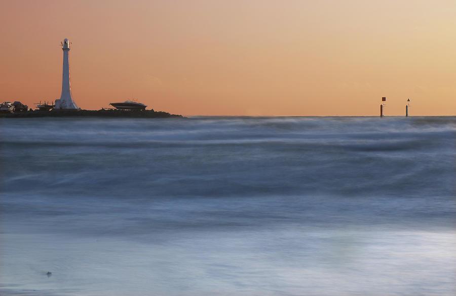 St Kilda Photograph - St Kilda Lighthouse  by Leigh Henningham