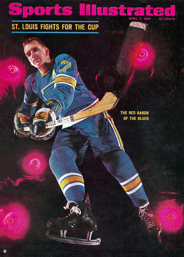 St Louis Blues Gordon Berenson Sports Illustrated Cover Photograph by Sports Illustrated