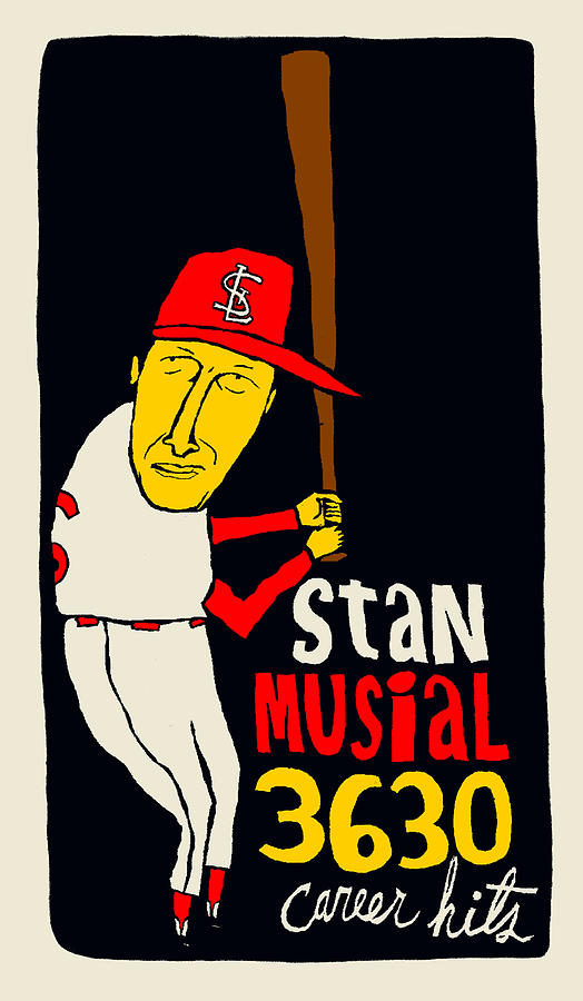 St Louis Cardinals Mixed Media - St Louis Cardinals - Stan Musial - Baseball Hall Of Fame - Cooperstown by JB Perkins