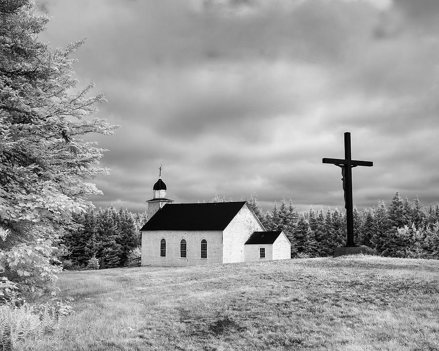 St Margarets Of Scotland Church Infrared Photograph