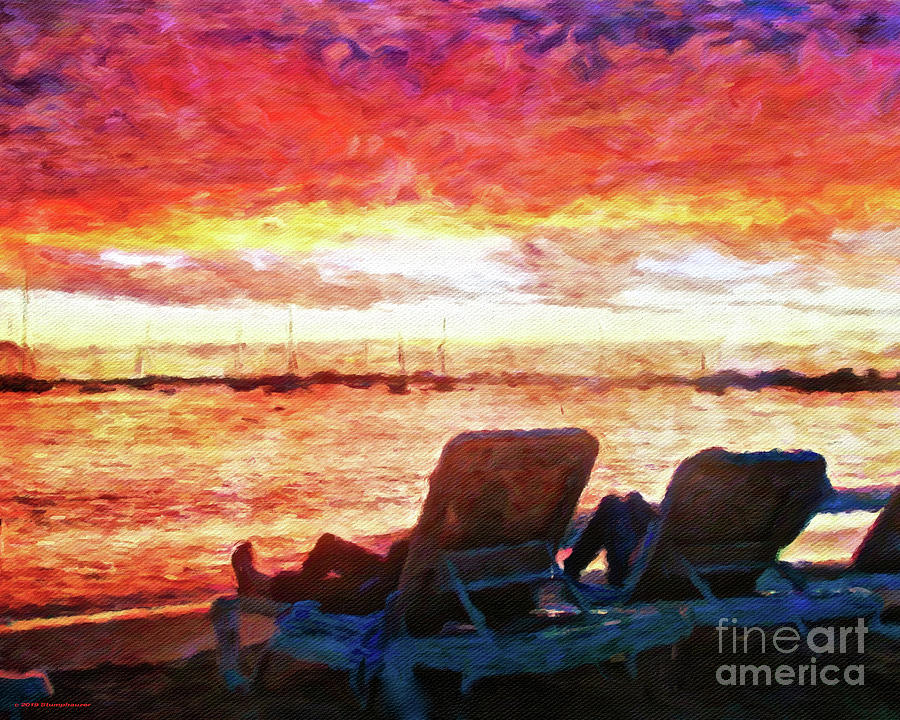 St. Martin St. Maarten Sunset by Jerome Stumphauzer