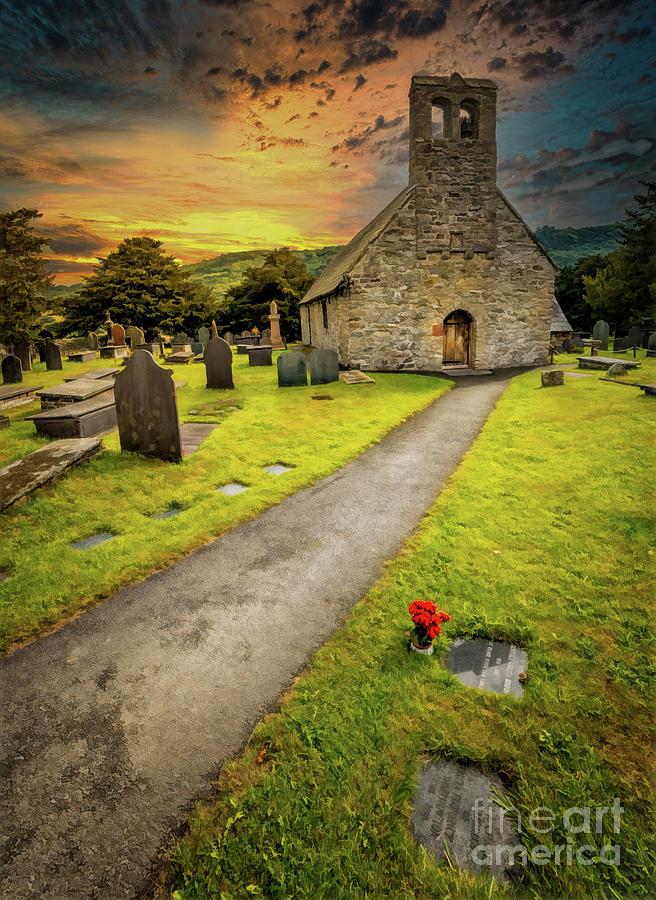 St. Mary Church Caerhun Wales by Adrian Evans