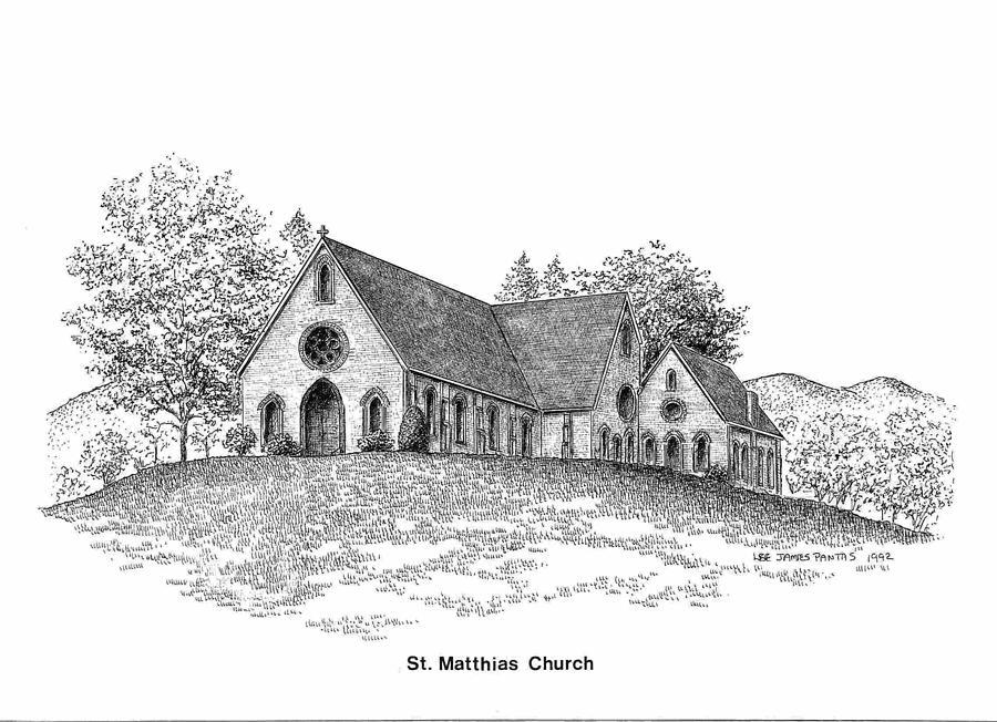 Church Drawing - St. Mathias Church by Lee Pantas