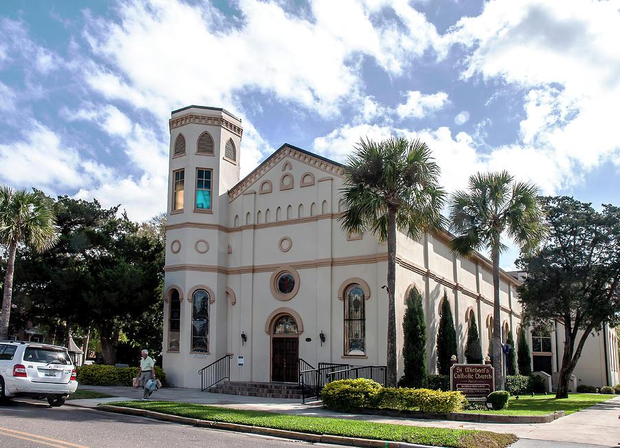 Architecture Photograph - St. Michaels Catholic Church - Fernandina Beach by Norman Johnson