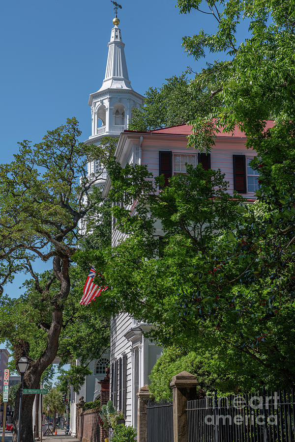 St. Michaels Church - Oldest Surviving Religious Structure In Charleston Sc Photograph