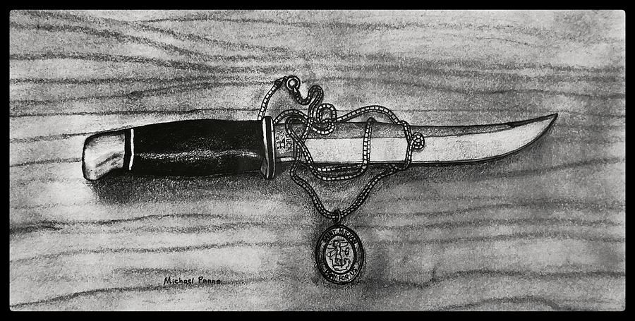 St. Michaels Knife W/ Border Drawing