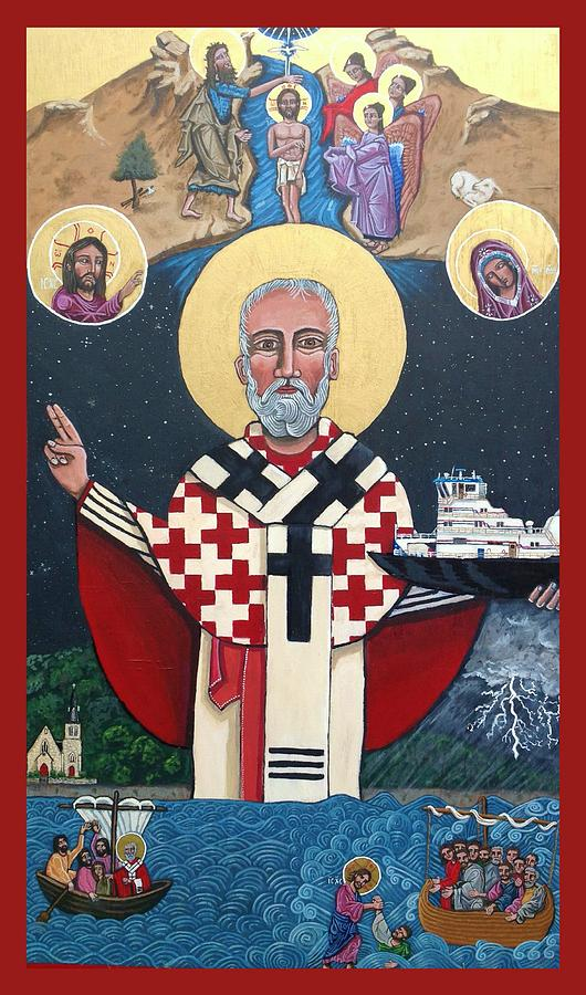 St. Nicholas Patron of Mariners Painting by Kelly Latimore