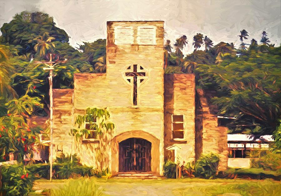 St Peter's Cathedral in Gizo by Joan Stratton