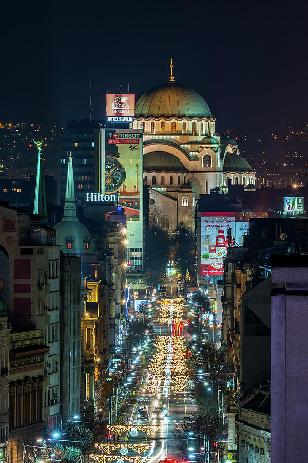 Magnificent Photograph - St. Sava Temple In Belgrade, Holiday Edition by Dejan Kostic