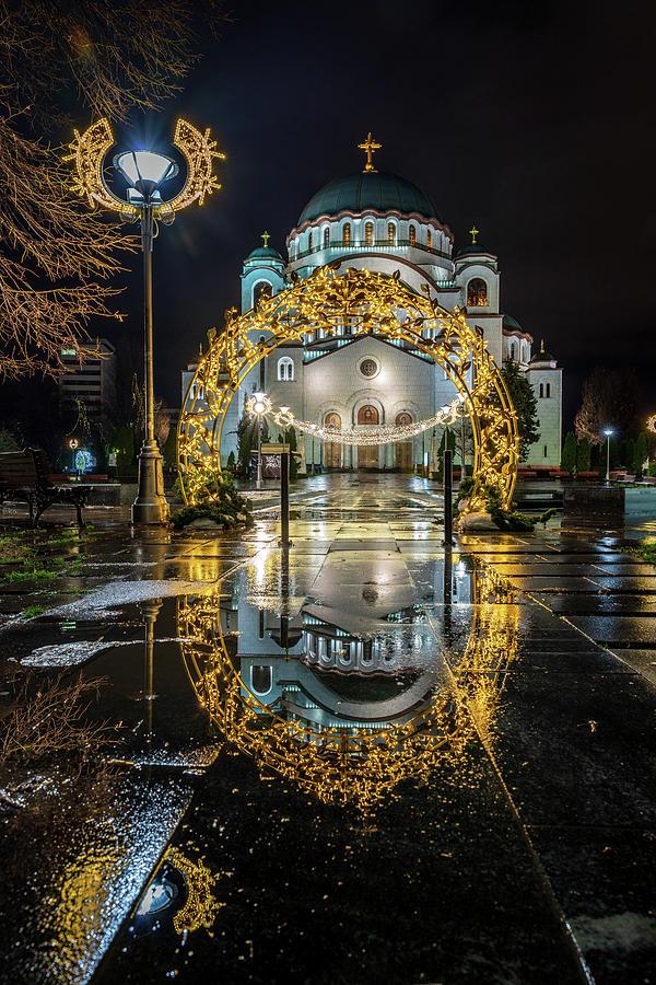 St. Sava Temple in Belgrade Reflection by Dejan Kostic