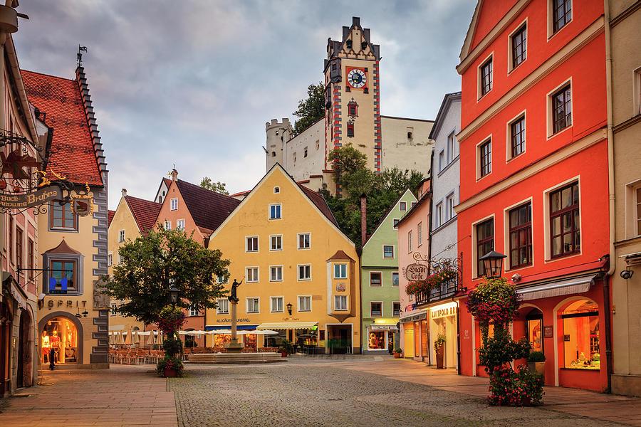 Stadtbrunnen In Fussen, Germany Photograph