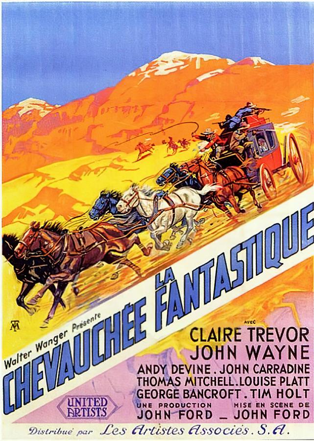 stagecoach 2, With John Wayne And Claire Trevor, 1939 Mixed Media