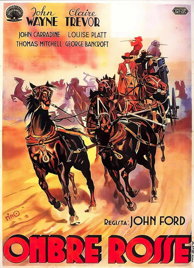 stagecoach, With John Wayne, 1939 Mixed Media