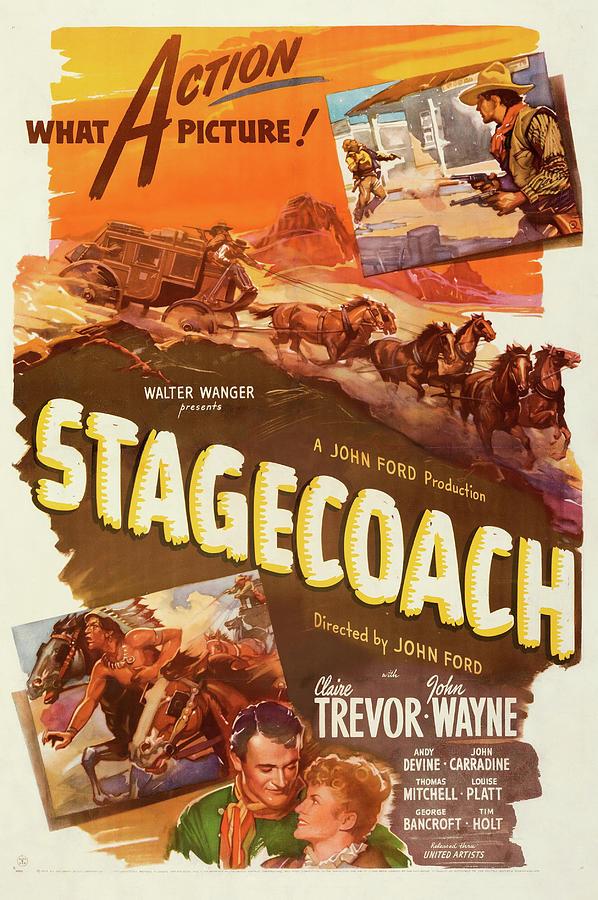 stagecoage 1939 Mixed Media