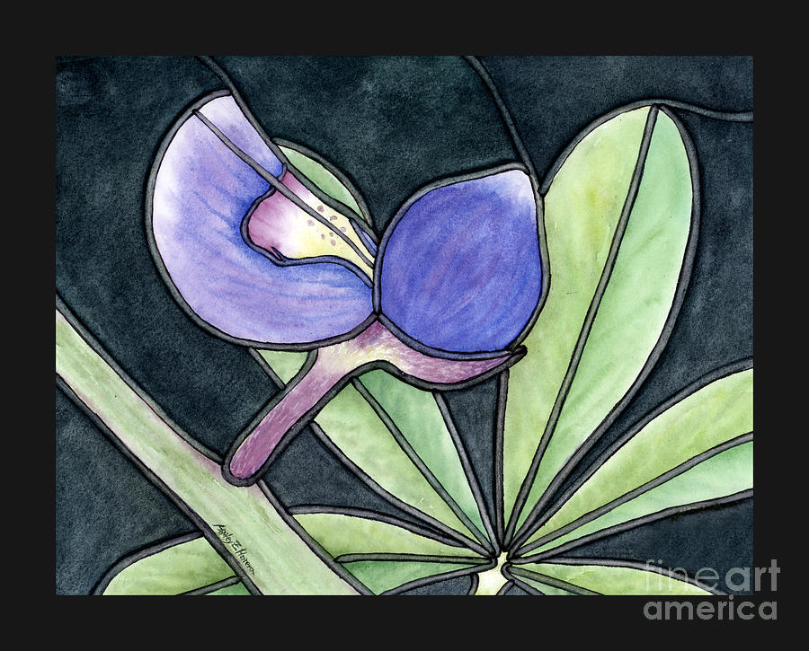 Stained Glass Bluebonnet Petal Painting