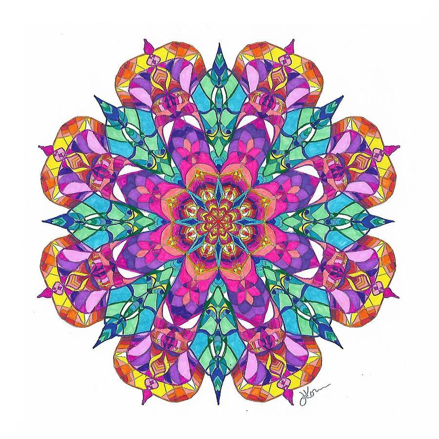 Stained Glass Mandala #15 by Jennifer Kohr