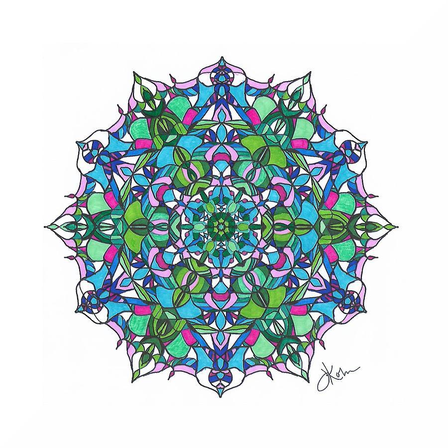 Stained Glass Mandala #6 by Jennifer Kohr