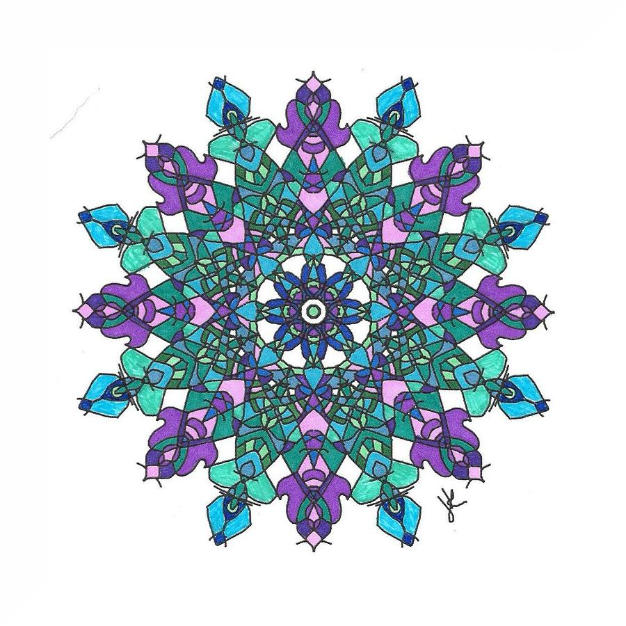 Stained Glass Mandala #m1 by Jennifer Kohr