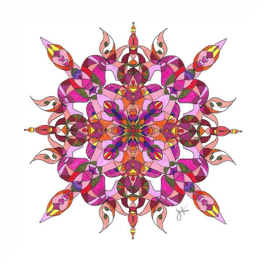 Stained Glass Mandala #m2 by Jennifer Kohr