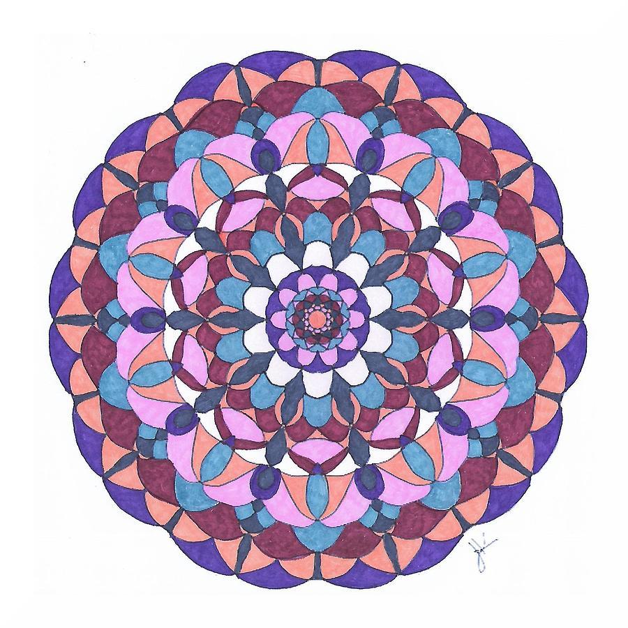 Stained Glass Mandala #m3 by Jennifer Kohr