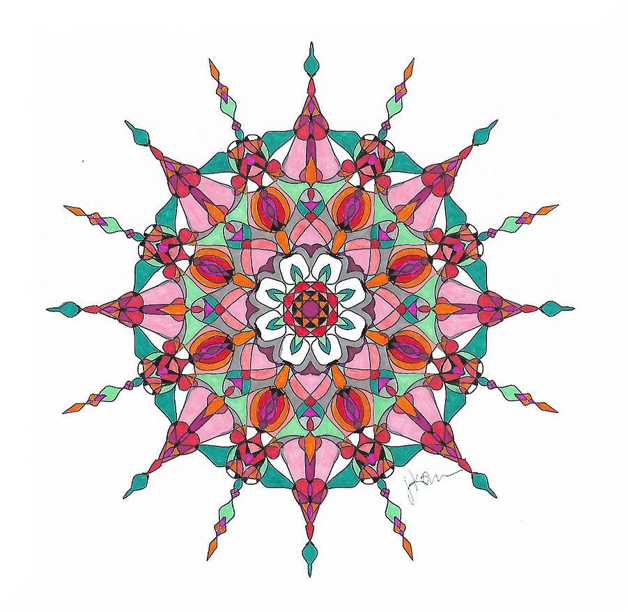Stained Glass Mandala #m4 by Jennifer Kohr