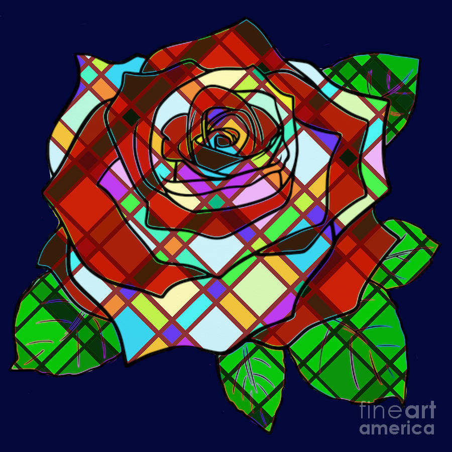 Stained Glass Rose by Priscilla Wolfe