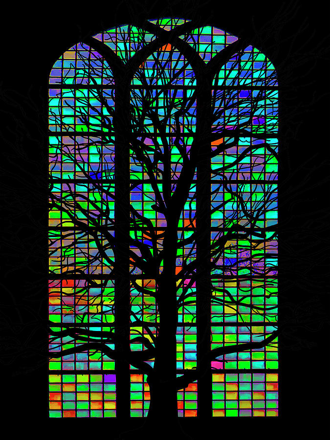 Stained Glass Silhouette by Paul Wear