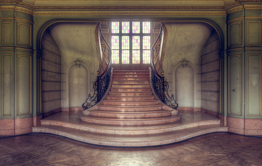 Abandoned Photograph - Staircase by Roman Robroek